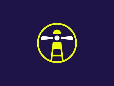 Quick Logo Exploration #1 - Lighthouse game contrast dark fluo light lighthouse exploration logo