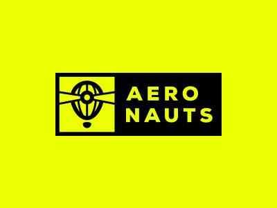 Logo refining #1 - Aeronauts logotype aeronauts logo lighthouse lightbeam light hot air balloon game fluo exploration dark contrast