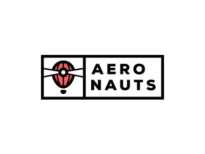 Logo refining #3 - Aeronauts logotype logo lighthouse lightbeam light hot air balloon game exploration red dark contrast aeronauts