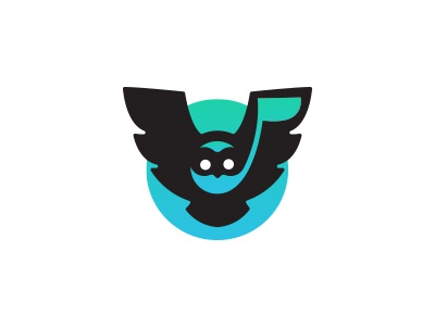 Logo re-upload - Melowly game totem connected home app concept logotype awalening music owl