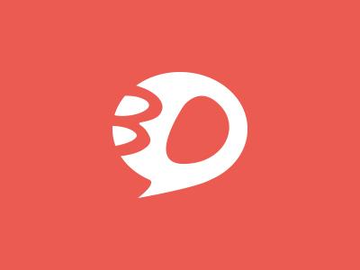 Logo re-upload - BDphile round bd bubble logotype comics website app