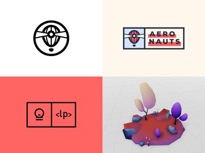 Top#4 2018 lightbeam game design aeronauts game modeling 3dsmax contrast design lowpoly hot air balloon exploration logotype logo
