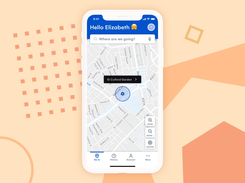 🚗 Ride sharing for Seniors #1 accessibility accesible seniors taxi lyft uber transport mockup homescreen carpool car sharing ride sharing