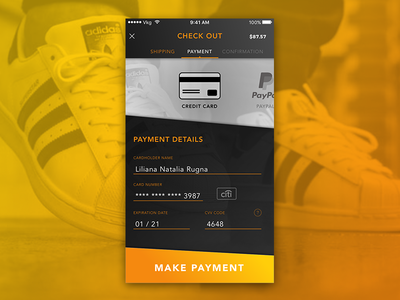 Credit Card Checkout DailyUI 002