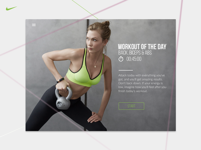 Workout Of The Day interface user nike work wod widget ui sport planning fitness