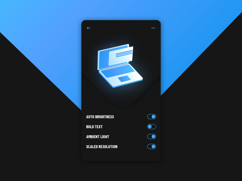 BRIGHTNESS setting everyday experience sketchapp interface web ui minimal flat digital clean display