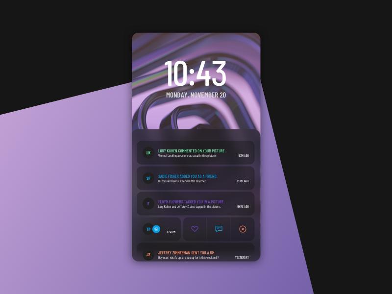 NOTIFICATION sketchapp experience everyday interface web ui minimal flat digital clean app notification