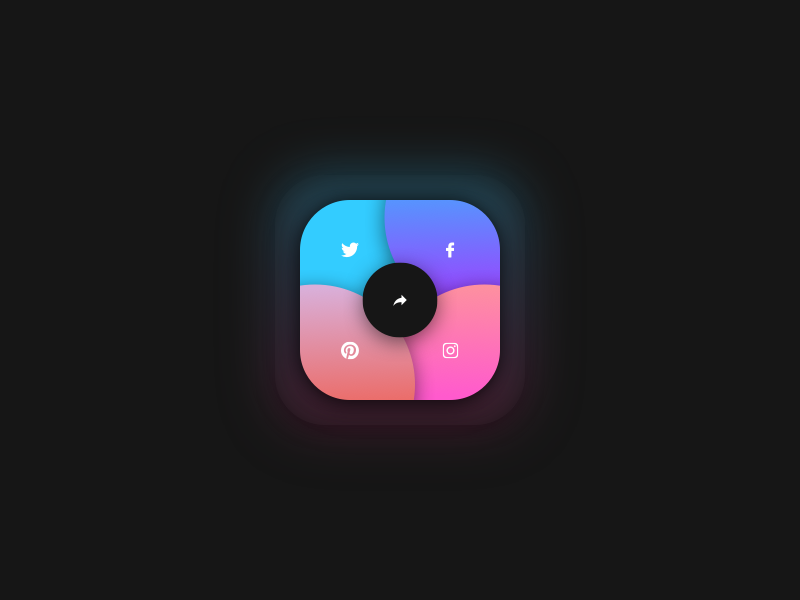 SHARE sketchapp everyday experience interface web ui minimal gradient social clean app share