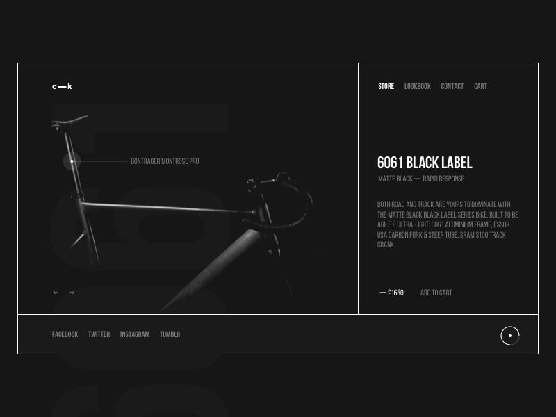 FIXED fixie app clean cart shop minimal ui web interface experience everyday sketchapp