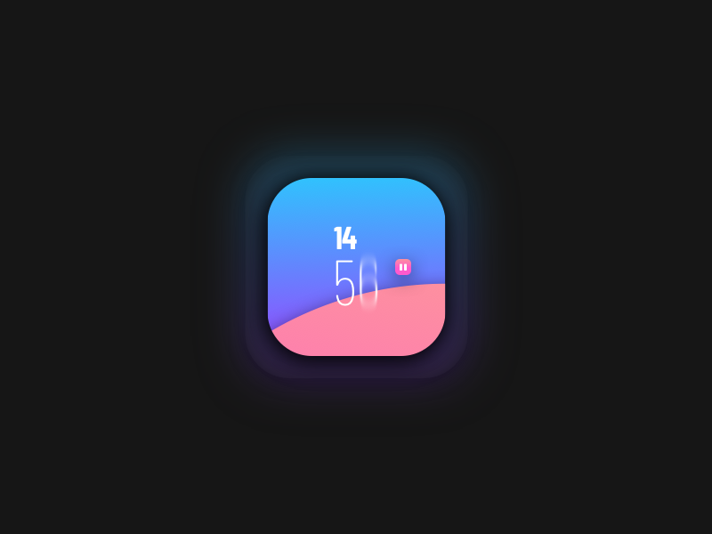 TIMER sketchapp everyday experience interface web ui minimal gradient reminder clean app timer