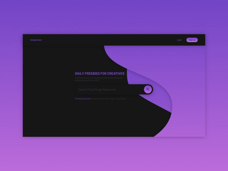 RESOURCES resources sketchapp everyday experience interface web ui minimal freebies search clean app