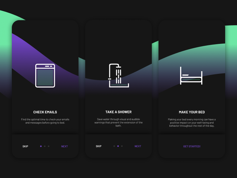 ORGANIZE gradient sketchapp everyday experience interface web ui minimal onboarding organize clean app