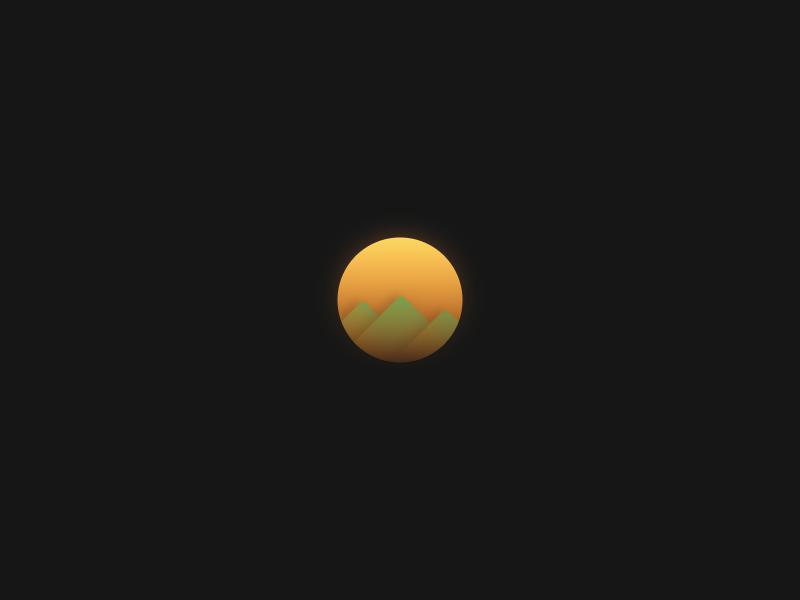 SUN icon app clean gradient color minimal ui web interface experience everyday sketchapp