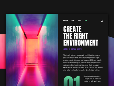 ENVIROMENT sketchapp everyday experience interface web ui minimal post gradient clean app blog
