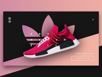 NMD adidas app clean gradient fashion minimal ui web interface experience everyday sketchapp