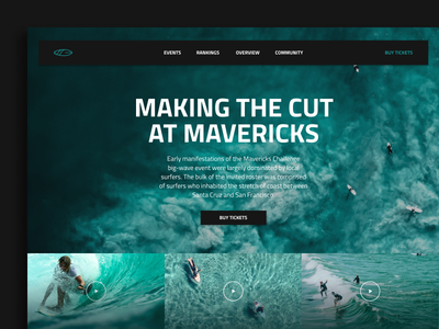MAVERICKS nature app clean surf mavericks minimal ui web interface experience everyday sketchapp