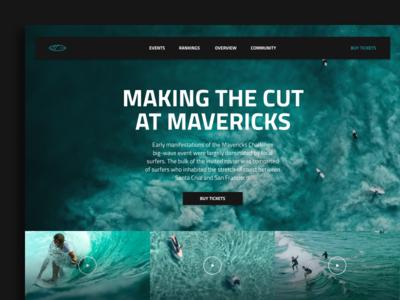 MAVERICKS nature app clean surf mavericks minimal ui web interface experience everyday sketchapp