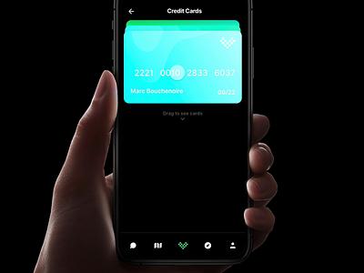 Volt - Credit Card Pile credit card ui kit ios animation prototyping design prototype framer