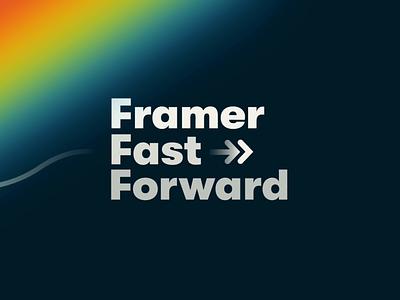 Framer Fast Forward workflow fidelity fast figma sketch tool app ui ios animation prototyping design prototype framer