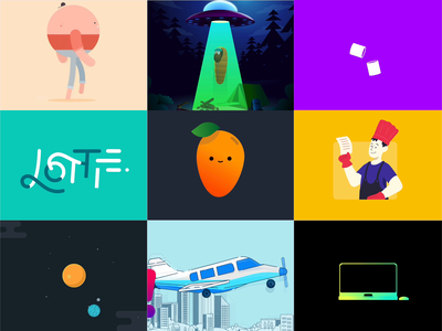 Lottie Animations Component for Framer illustration motion graphics motion after effects lottie animation prototyping design prototype framer