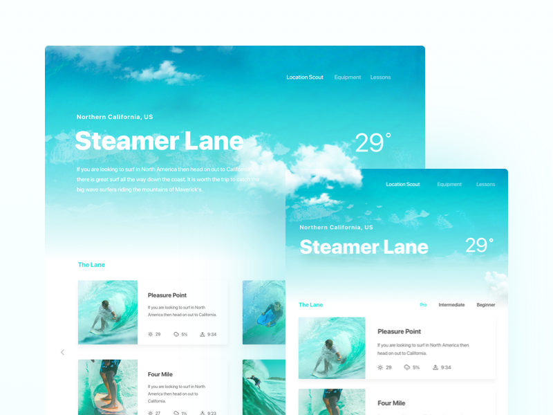 Framer Web Design Template freebie web template download framer design prototype surfing website webdesign responsive