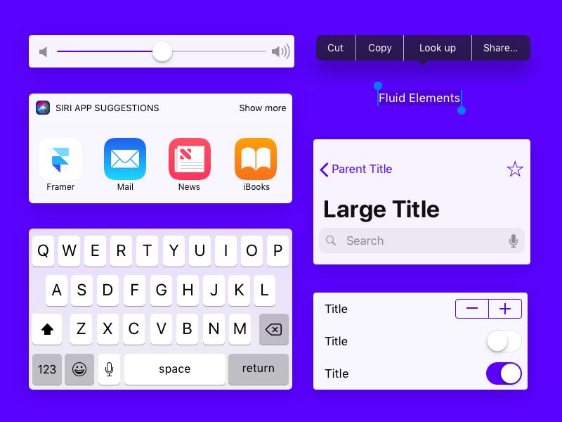 Fluid UI Elements