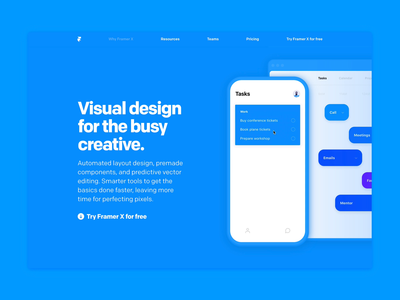 Why Framer X - Design ui prototyping ios design prototype framer