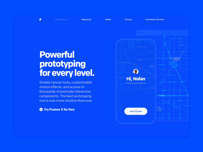 Why Framer X - Prototyping tool animation app ui prototyping kit design prototype framer