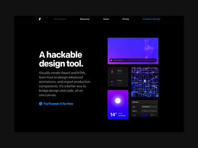 Why Framer X - Development components react development prototyping kit design prototype framer
