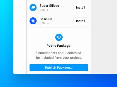 Framer X46: Packages Panel packages prototype design framer