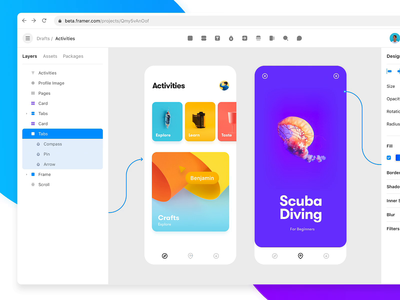 Framer Web Beta prototype design collaborate beta web framer