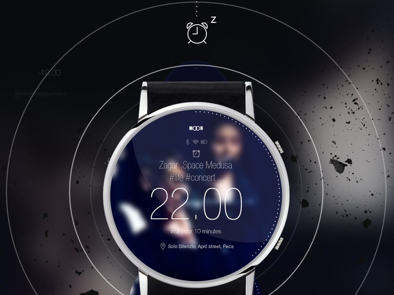 MOON smart watch concept - Alarm smart smartwatch watch iwatch moon devices ios android wear