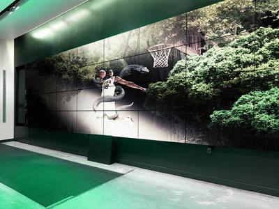 Nike Basketball, Mamba Lessons, Nike Center, light wall screen