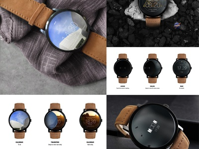 MOON Smartwatch UI design concept clock event screen ux ui time watch wear moon smartwatch smart devices android