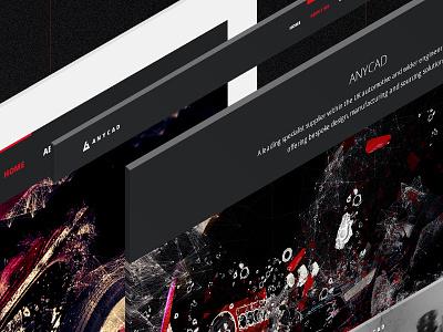 Anycad responsive website design concept tablet mobile website webdesign responsive engine motor auto archicad autocad 3d cad