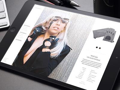 Karma Pécsi Kesztyű responsive website design concept responsive website webshop webdesign web michael jackson madonna lady gaga gloves