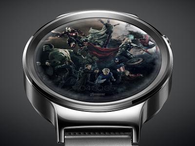 Avengers UI, android watch, locked screen guardian spiderman ironman hulk thor avengers huawei ui time clock watch smartwatch