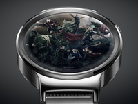 Avengers UI, android watch, locked screen