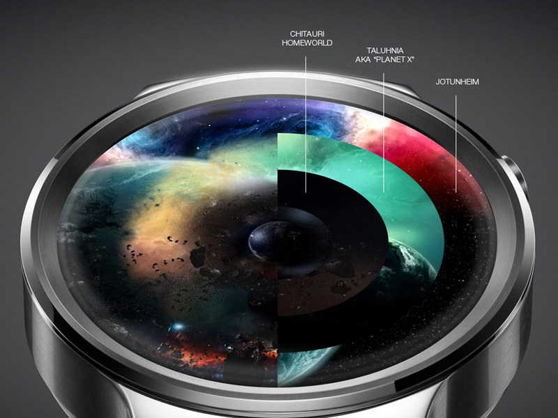 Avengers UI Concept for android watch, scenes by Balazs Eros