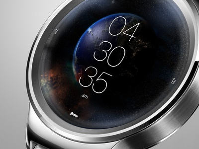 Avengers UI  Concept for android watch, earth scene android iwatch user interface concept design avengers huawei ui time clock watch smartwatch