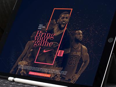 Nike men's basketball shoes rotator design concept website ui kyrie lebron kobe basketball nike