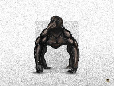 Crowrilla gouache watercolor photoshop ilustration digital painting digitalart art