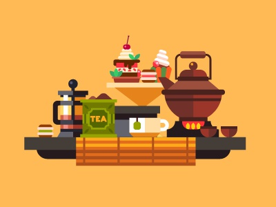 Maybe, a cup of tea? cup china yellow ceremony coffee cake tea illustration flat vector