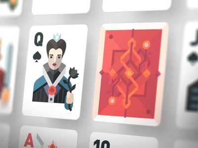 Po-po-poker cards!  suit ace king queen jack playing cards card poker illustration vector flat