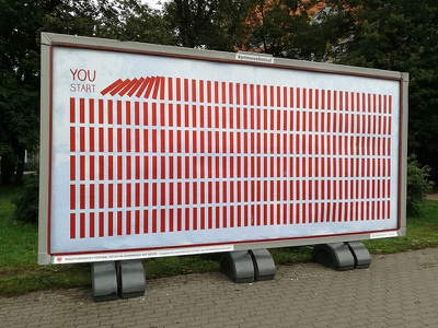 YOU START art moves 2017 billboards poland toruń