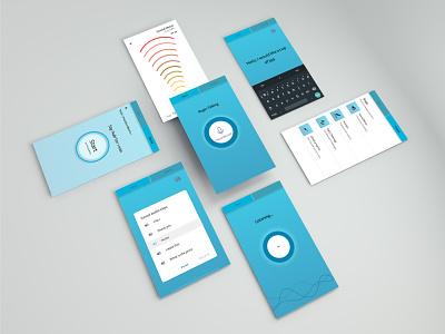 SpeakOutt App for speech impediment isometric app differently abled voice blue inclusive inclusive design ui design
