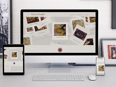 Story of Ganjifa web design art handicraft ui bootstrap 4 website design website development