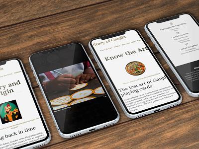 Story of Ganjifa responsive mobile art design website design responsive design