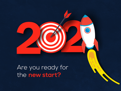 2021 Ready for New Startup achievements progressive start new inspirational hope goals newyearseve 2021 finally dribbble inspiration red blue adobe photoshop design