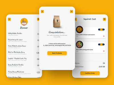 RESTAURANT OR ONLINE FOOD DELIVERY APP UI DESIGN food delivery application delivery menu menu design menu design template food menu congratulation page congratulations cart page food delivery service brand identity food and drink app ui design online delivery restaurant app food delivery food app dribbble adobe photoshop 2021